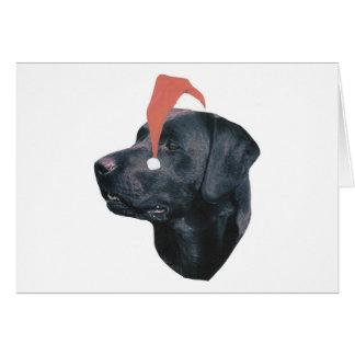 Labrador-Retriever-Weihnachtsmannmütze Karte