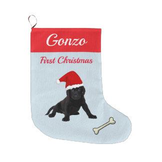 Labrador retriever-Welpe Großer Weihnachtsstrumpf