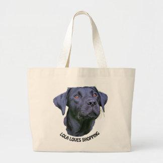 Labrador-Retriever-Welpe - wer Liebe-Einkauf Jumbo Stoffbeutel