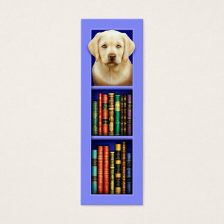 Labrador-Retriever-Welpen-Blau-Lesezeichen Mini Visitenkarte