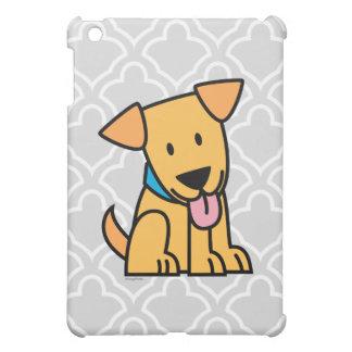 Labrador-Retrieverwelpenhund sitzen goldenen iPad Mini Hülle