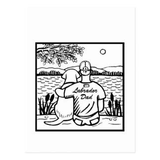 Labrador und Vati Postkarte
