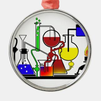 LABRADOR-WAREN - LABORglaswaren-WÜTENDER Rundes Silberfarbenes Ornament
