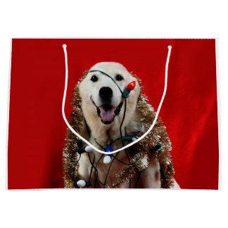 Labrador-Weihnachten Große Geschenktüte