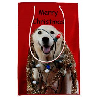 Labrador-Weihnachten Mittlere Geschenktüte