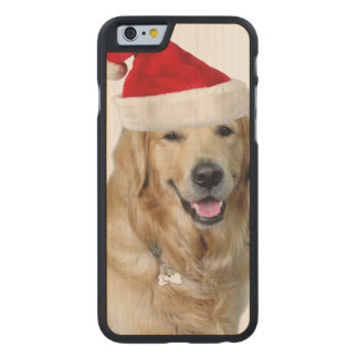 Labrador Weihnachtensankt Klaus Hundsankt Carved® iPhone 6 Hülle Ahorn