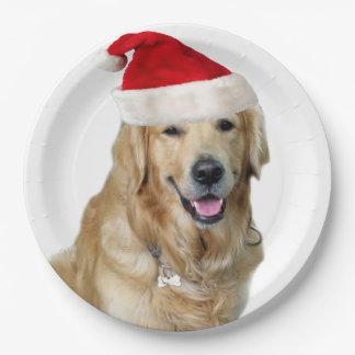 Labrador Weihnachtensankt Klaus Hundsankt Pappteller