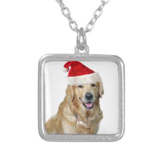 Labrador Weihnachtensankt Klaus Hundsankt Versilberte Kette