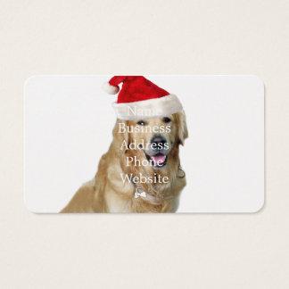 Labrador Weihnachtensankt Klaus Hundsankt Visitenkarte
