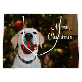 Labrador-Weihnachtsball Große Geschenktüte
