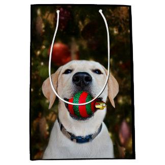 Labrador-Weihnachtsball Mittlere Geschenktüte