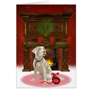 Labrador-Weihnachtskarte Karte