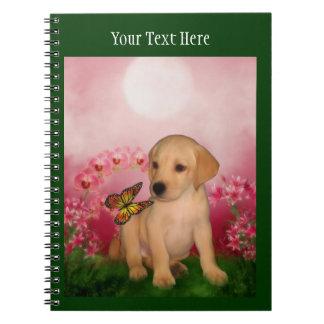 Labrador-Welpen-Fantasie-Hundekunst Notizblock