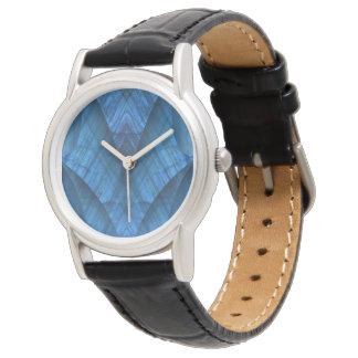 Labradorit-Edelstein-blaues elegantes Armbanduhr