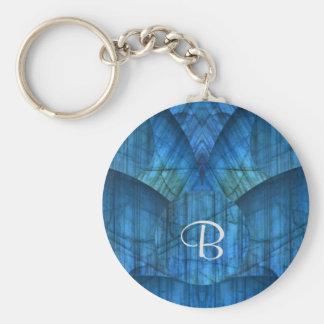 Labradorit-Edelstein-Monogramm Keychain Schlüsselanhänger
