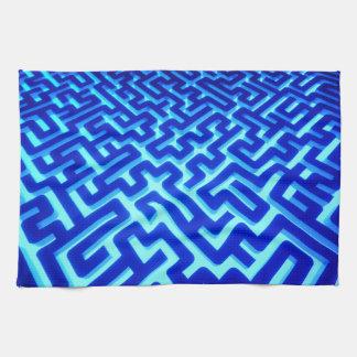 Labyrinth-Blau Handtuch