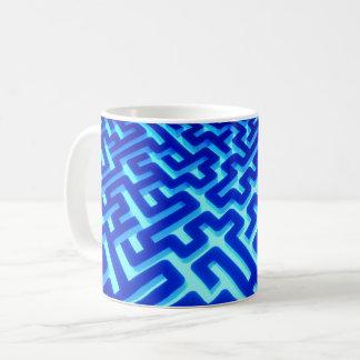 Labyrinth-Blau Kaffeetasse