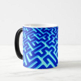 Labyrinth-Blau Verwandlungstasse