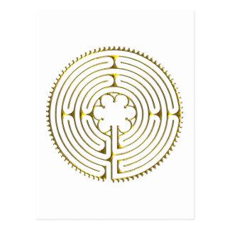 Labyrinth Chartres Postkarte