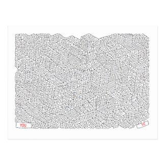 Labyrinth der Liebe Postkarte