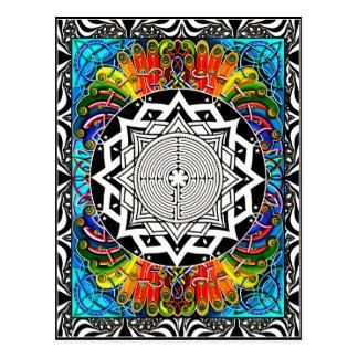 Labyrinth, der Weg des geringsten Widerstandes Postkarte
