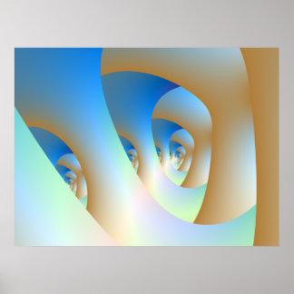 Labyrinth im blauen Plakat
