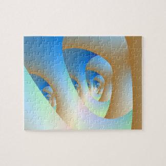Labyrinth im blauen Puzzlespiel Puzzle