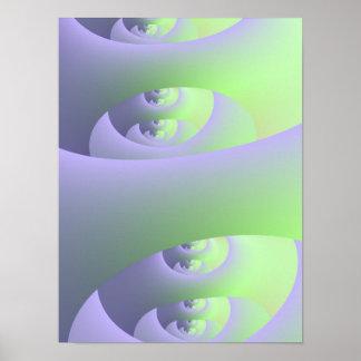Labyrinth im lila und grünen Plakat