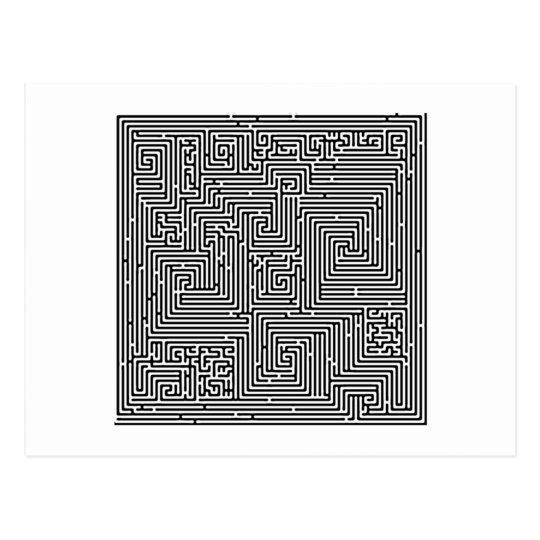 Labyrinth Irrgarten maze Postkarte