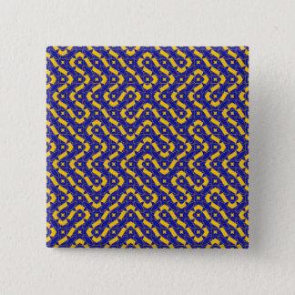 Labyrinth Quadratischer Button 5,1 Cm