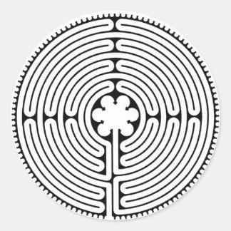 Labyrinth Runder Aufkleber