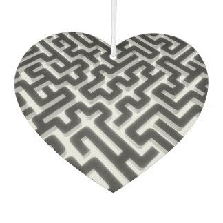 Labyrinth-silbernes Schwarzes Autolufterfrischer