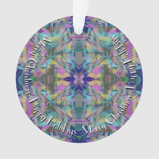 Labyrinth von Farben mit Text im Kreis Ornament