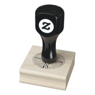 Labyrinthgummi-Briefmarke Gummistempel