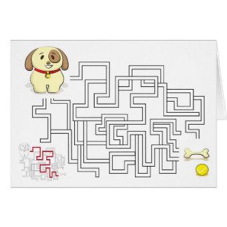 Labyrinthspielhund und -ball karte
