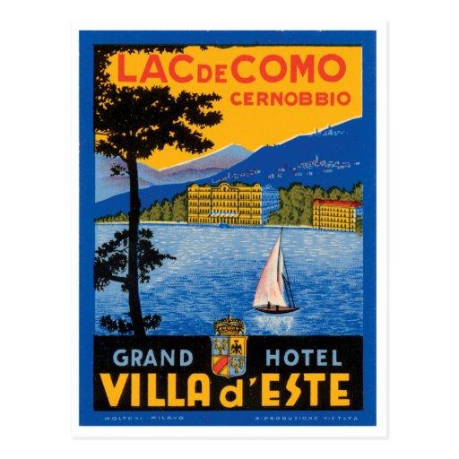 Lac de Como Postkarte
