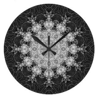 LaceLine Mandala-Uhr Große Wanduhr