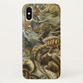Lacertilia durch Vintage Eidechsen-Tiere Ernst iPhone X Hülle