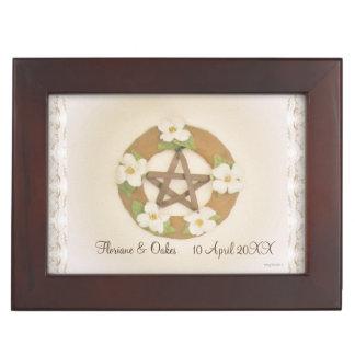 Lacey Hartriegel-Pentagramm Handfasting Schnur Erinnerungsdose