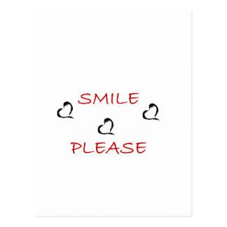 Lächeln bitte postkarten