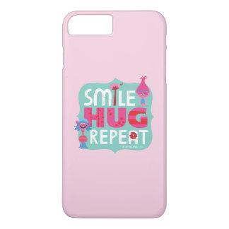 Lächeln der Schleppangel-|, Umarmung, Wiederholung iPhone 8 Plus/7 Plus Hülle