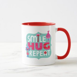 Lächeln der Schleppangel-|, Umarmung, Wiederholung Tasse