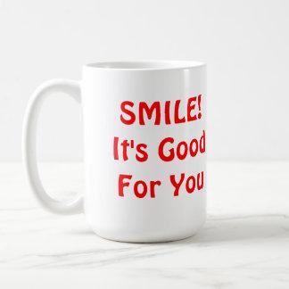 LÄCHELN! Es ist für Sie gut. Rot Kaffeetasse