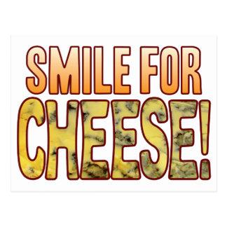 Lächeln für Blauschimmelkäse Postkarte