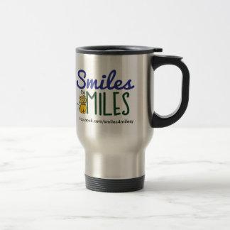 Lächeln für Meilen-Reise-Tasse Reisebecher