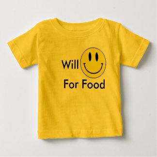 Lächeln für Nahrung Baby T-shirt