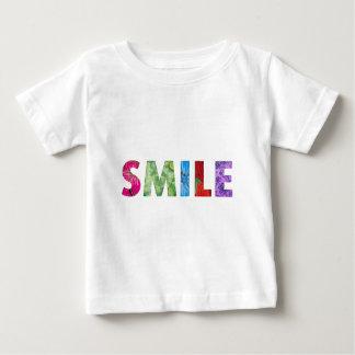 Lächeln-glückliches Zitat 02 Baby T-shirt