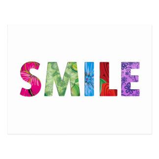 Lächeln-glückliches Zitat 02 Postkarte