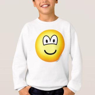 Lächeln! großer tellow Emoticon Sweatshirt