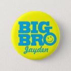 Lächeln großes Bro nannte Knopf-Abzeichen im Blau Runder Button 5,7 Cm